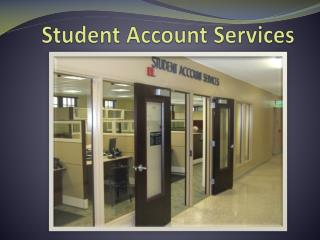 Student Account Services