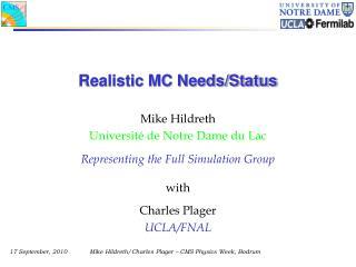 Realistic MC Needs/Status