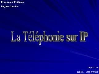La Téléphonie sur IP