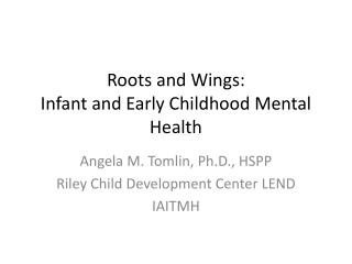 Roots and Wings: Infant and Early Childhood Mental Health