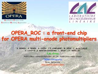 OPERA_ROC : a front-end chip   for OPERA multi-anode photomultipliers