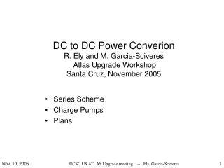 Series Scheme Charge Pumps Plans