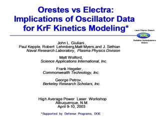B. Overview of Orestes Code:      Laser physics simulation model.