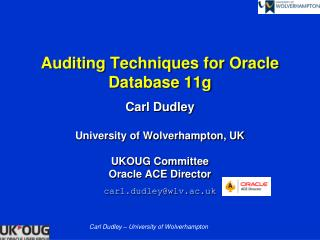 Auditing Techniques for Oracle Database 11g