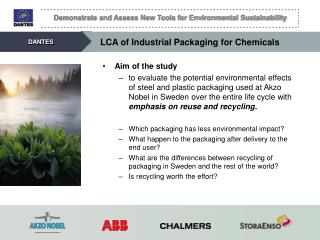 LCA of Industrial Packaging for Chemicals