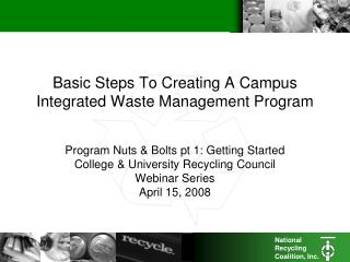 Basic Steps To Creating A Campus  Integrated Waste Management Program