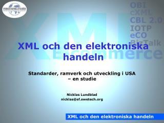XML och den elektroniska handeln