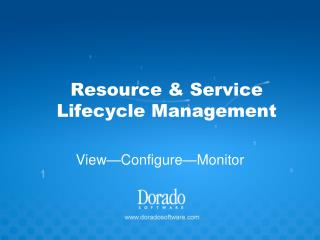 Resource  Service Lifecycle Management