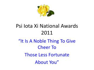 Psi Iota Xi National Awards 2011