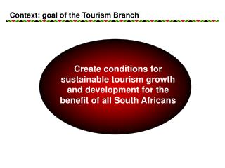Context: goal of the Tourism Branch