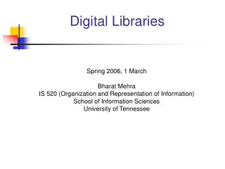 Digital Libraries