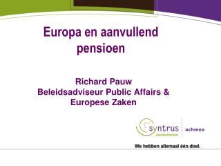 Europa en aanvullend pensioen