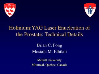Holmium:YAG Laser Enucleation of the Prostate: Technical Details