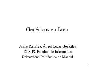 Genéricos en Java