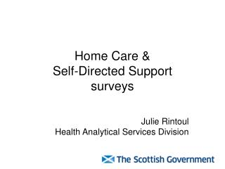 Home Care & Self-Directed Support surveys