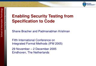 Enabling Security Testing from Specification to Code