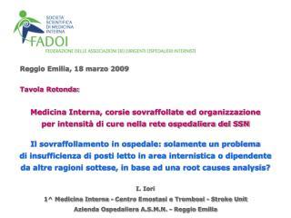Reggio Emilia, 18 marzo 2009
