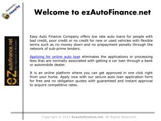 Easy Auto Loan Approval for No Credit Borrowers