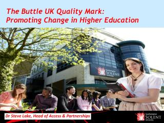 The Buttle UK Quality Mark: Promoting Change in Higher Education