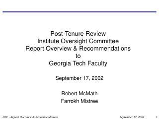 September 17, 2002 Robert McMath Farrokh Mistree