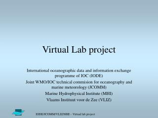 Virtual Lab  project