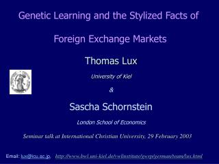 Genetic Learning and the Stylized Facts of  Foreign Exchange Markets