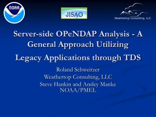 Server-side OPeNDAP Analysis - A General Approach Utilizing Legacy Applications through TDS