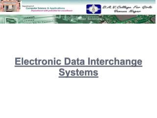 Electronic Data Interchange Systems