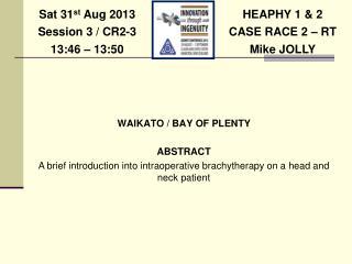 HEAPHY 1 & 2 CASE RACE 2 � RT Mike JOLLY