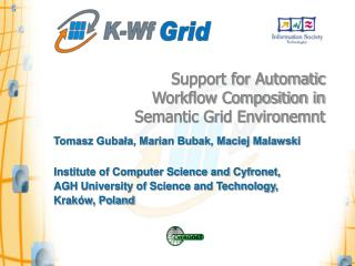Support for Automatic Workflow Composition in Semantic Grid Environemnt