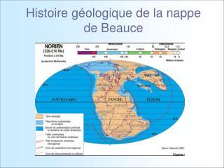 Histoire g ologique de la nappe de Beauce