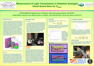 Measurement of Light Transmission in Radiation Damaged  Glued Quartz Bars for Q weak