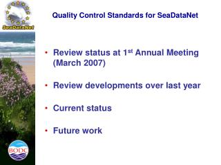 Quality Control Standards for SeaDataNet
