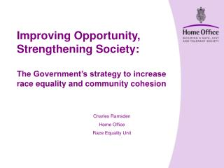 Charles Ramsden Home Office Race Equality Unit