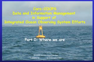 Caro-COOPS Data and Information Management  in Support of