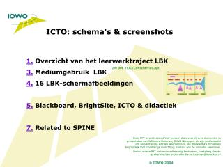 ICTO: schema's & screenshots