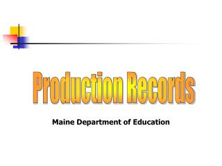 Production Records