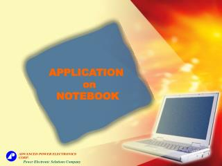 APPLICATION   on NOTEBOOK