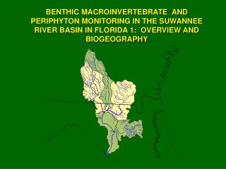 BENTHIC MACROINVERTEBRATE  AND PERIPHYTON MONITORING IN THE SUWANNEE RIVER BASIN IN FLORIDA 1:  OVERVIEW AND BIOGEOGRAPH