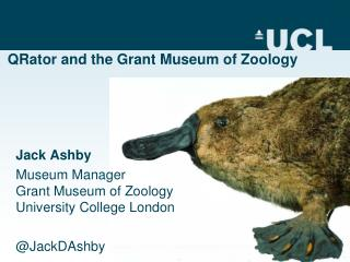 QRator and the Grant Museum of Zoology
