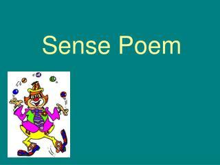 Sense Poem