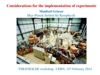 Considerations for the implementation of experiments
