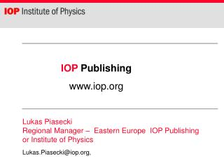 IOP  Publishing    iop