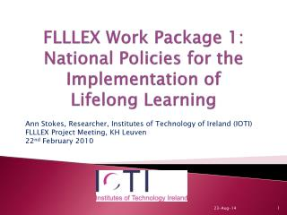 FLLLEX Work Package 1: National Policies for the Implementation of  Lifelong Learning