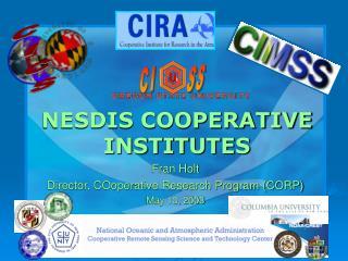 NESDIS COOPERATIVE INSTITUTES