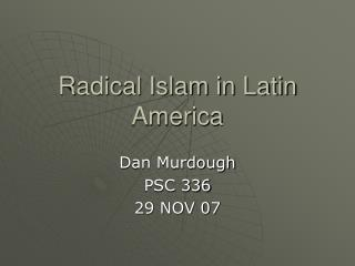 Radical Islam in Latin America