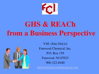 GHS & REACh  from a Business Perspective