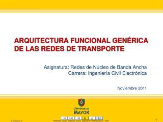 ARQUITECTURA FUNCIONAL GENÉRICA DE LAS REDES DE TRANSPORTE