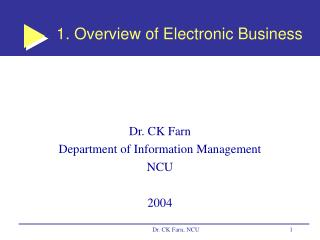 1. Overview of Electronic Business