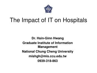 The Impact of IT on Hospitals